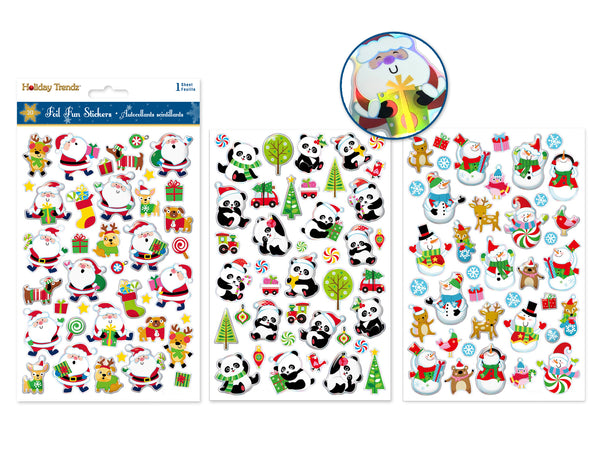 "Holiday Stickers: 5.5""x8.25"" 3D Foil-Fun Asst 16eax3styles A) Holiday Icons"
