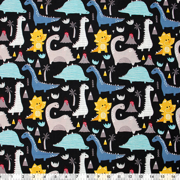 FABRIC CREATIONS 42″ Cotton Fabric  - Baby Dinosaurs  - Sold per inch