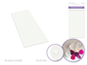 Scrapbook Glue Pads: 1/2'' Squares x66 Clear Flat Duo-Side Acidfree
