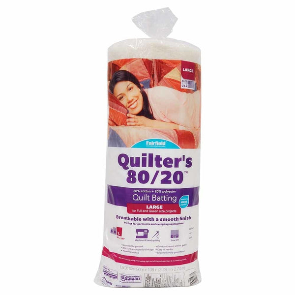 FAIRFIELD Quilter's 80/20TM Quilt Batting - 229 x 274cm (90'' x 108'')