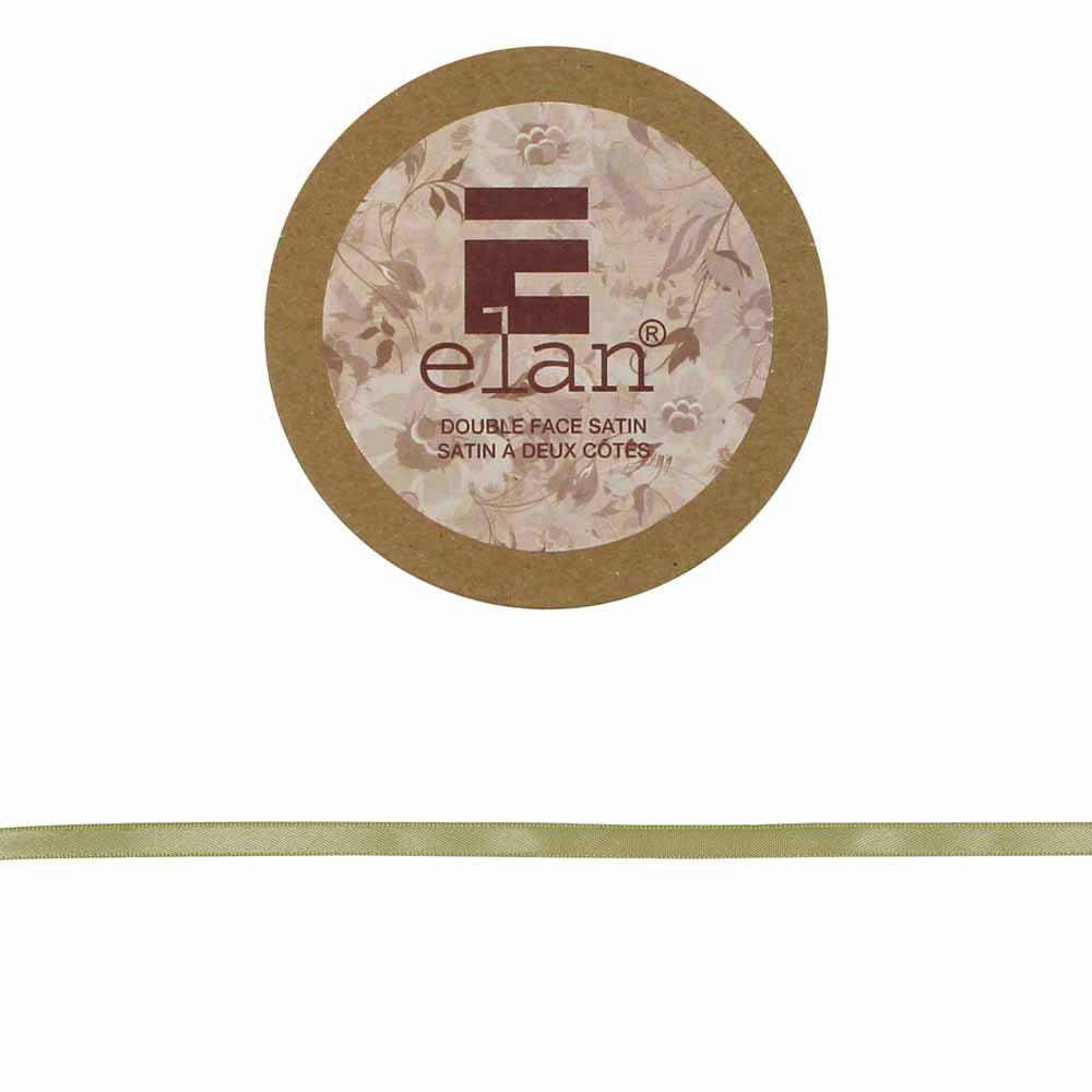 ELAN Double Face Satin Ribbon 6mm x 5m - Beige