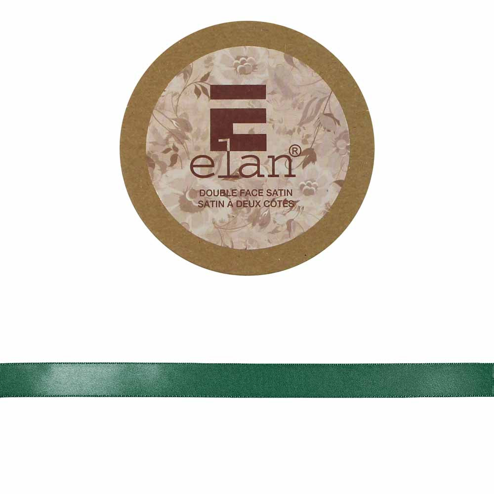 ELAN Double Face Satin Ribbon 12mm x 5m - Xmas Green