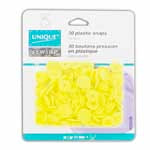 Plastic Snaps - 11mm Yellow