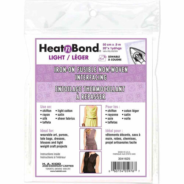 HEATNBOND Non-Woven Light Weight Fusible Interfacing - 50cm x 0.9m / 20'' x 1 yd