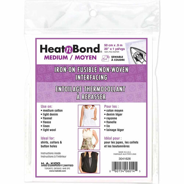 HEATNBOND Non-Woven Medium Weight Fusible Interfacing - 50cm x .9m / 20'' x 1 yd