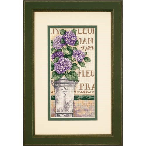 Hydrangea Floral - Dimensions Counted Cross Stitch