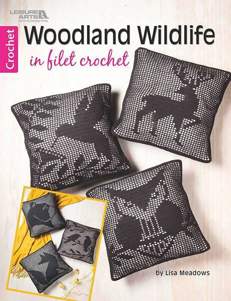Leisure Arts Booklet - Woodland Wildlife in Filet Crochet