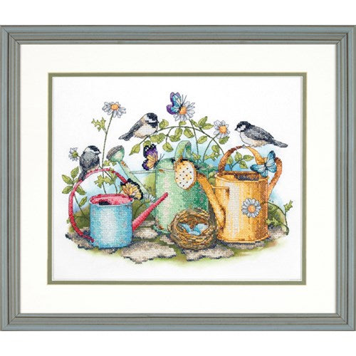 Dimensions Stamped Cross Stitch Kit - Watering Cans