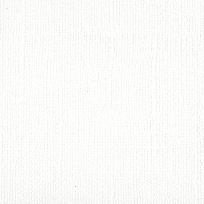 12x12 Textured Cardstock Bazzill White