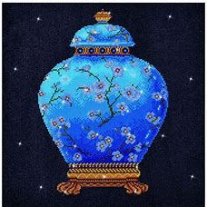 Diamond Dots Diamond Embroidery Facet Art Kit 23.5''X23.5'' Blue Vase