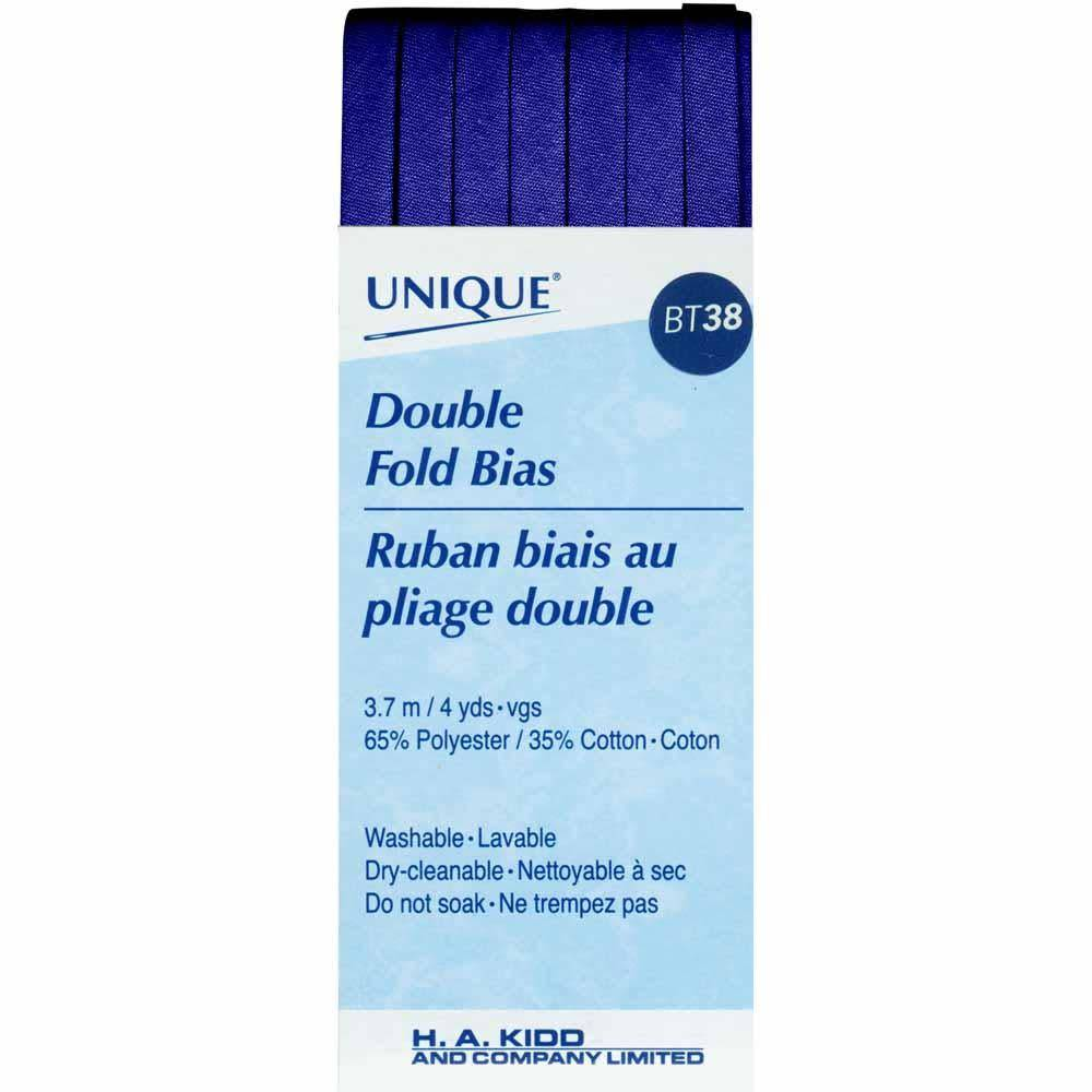 UNIQUE Double Fold Bias Tape 6mm x 3.7m - Navy Blue