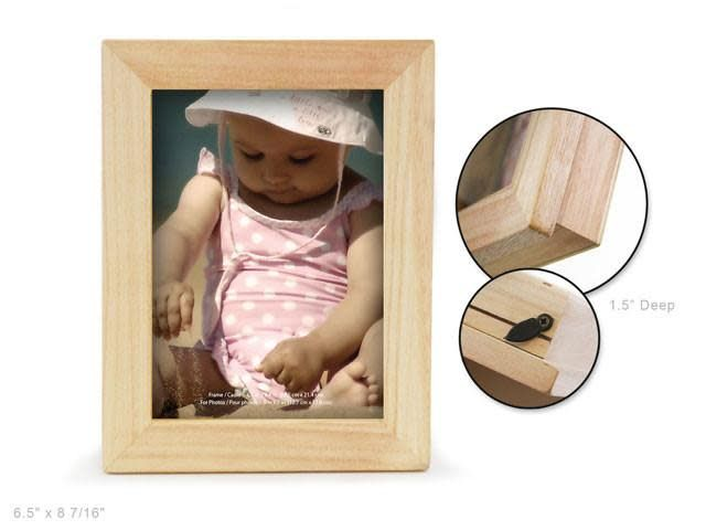 Wood Craft: Natural DIY 1.5'' Deep Memory 5''x7'' Photo Box