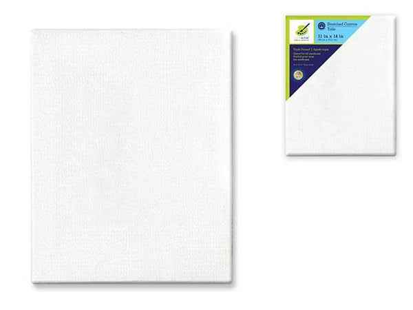 Stretch Artist Canvas: Rect. 11''x14'' Primed Back-Stapled