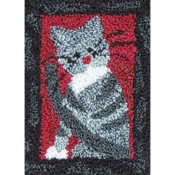 Rachel's of Greenfield Punch Needle Kit 2.5''X3.75'' Small Cat
