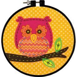 Dimensions/Learn-A-Craft Felt Applique Kit 6'' Round Little Owl