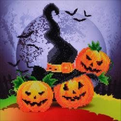 Diamond Dotz Diamond Embroidery Facet Art Kit 12.5''X12.5'' Halloween Magic (Witches Hat)