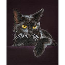 Diamond Dotz Diamond Embroidery Facet Art Kit 13.75''X17'' Midnight Cat