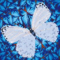 Diamond Dotz Diamond Embroidery Facet Art Kit 14''X14'' Flutterby White