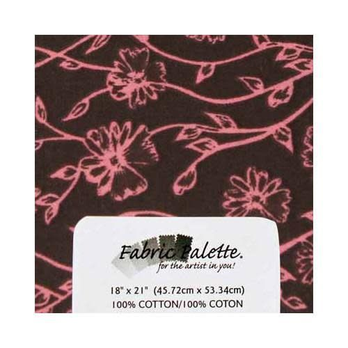 Fat Quarter Pre-Cut Fabric - Pink &  brown Collection 4 - 45 x 53cm (18'' x 21'')