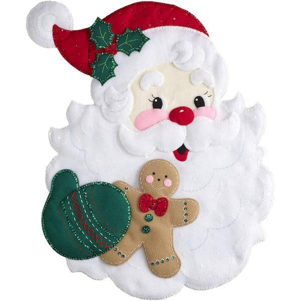 Santa's Treats Felt Wall Hanging Applique Kit 18''X22''