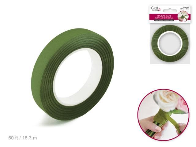 Floral Tape Stem Wrap: 1/2'' x 20yds - F) Moss Green