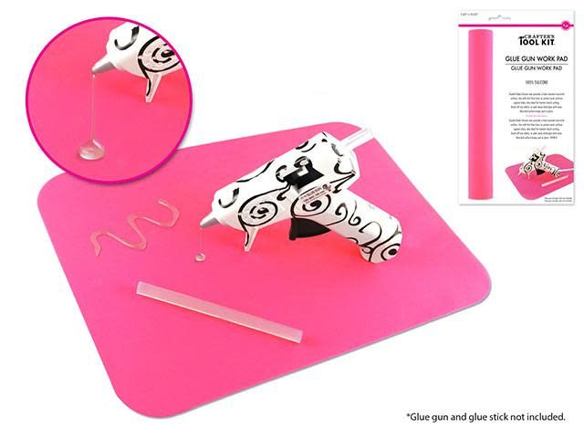 Crafter's Toolkit: Glue Gun Work Pad- 100% Silicone 7 5/8''x10 5/8''