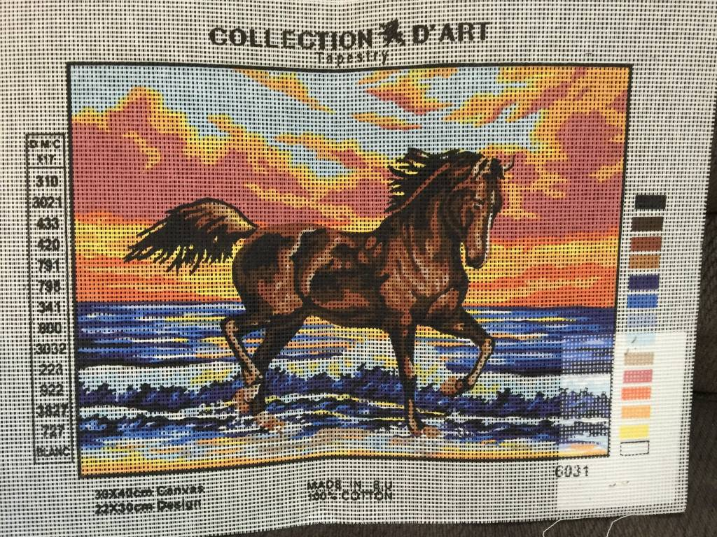 Horse In The Waves Tapestry 6.031