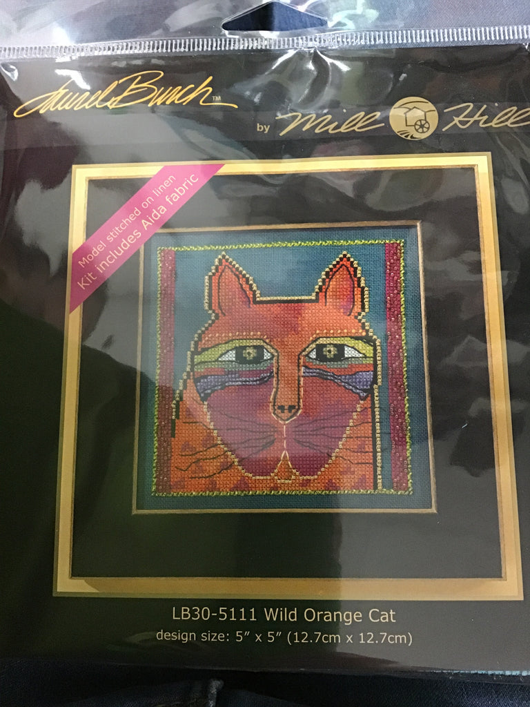 Mill Hill Beaded Cross Stitch Kit -Wild Orange Cat