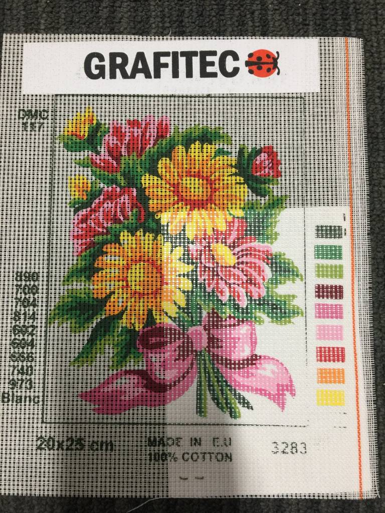 Yellow and Pink Flowers Tapestry 3.283