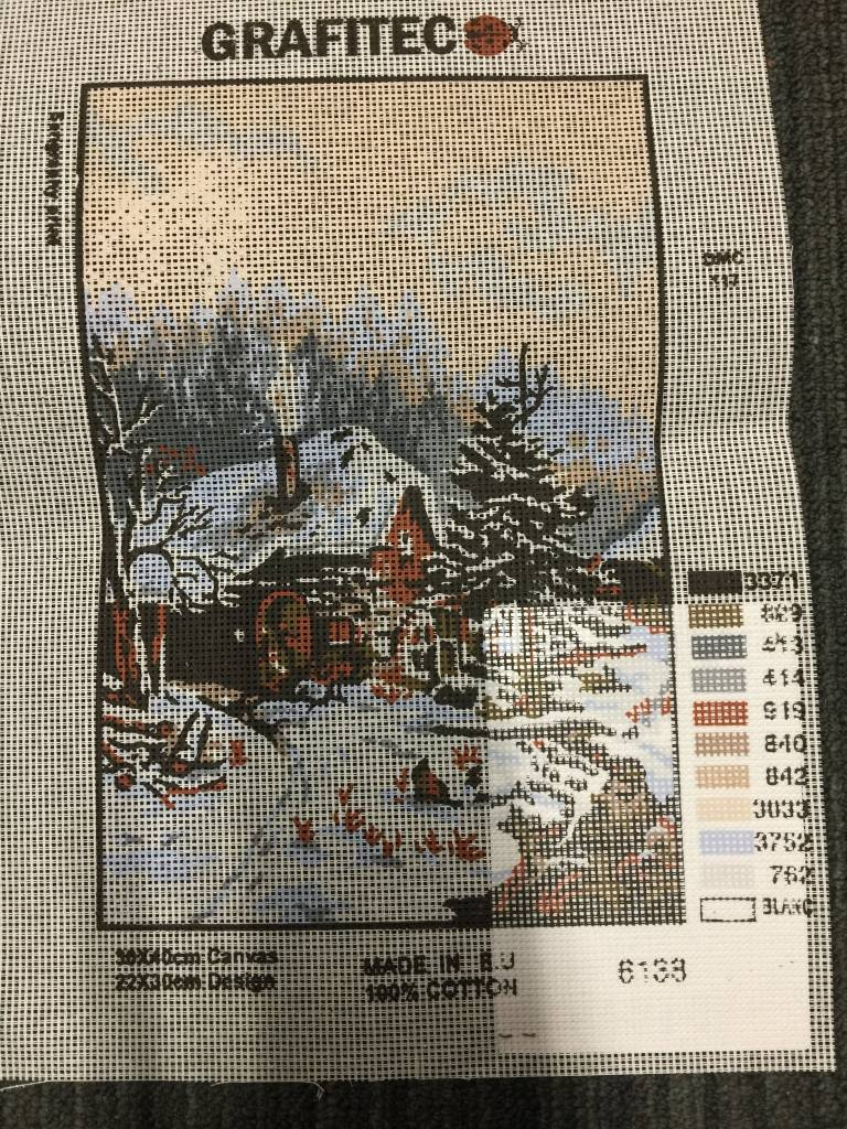 Winter Cabin Tapestry 6.138