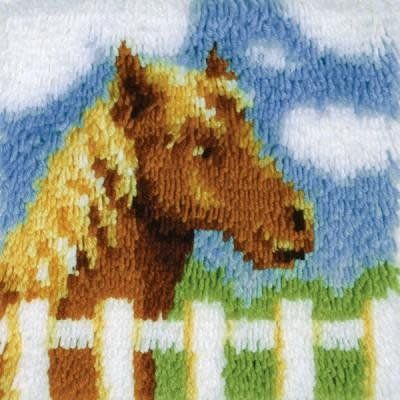 Wonderart Latch Hook Kit 12''X12'' Pony
