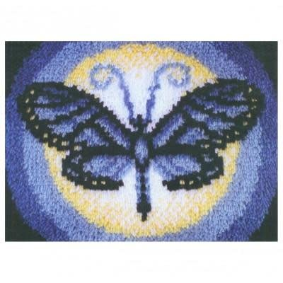 Wonderart Latch Hook Kit 15''X20'' Butterfly Moon