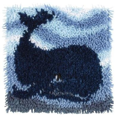 Wonderart Latch Hook Kit 12''x 12'' Big Blue Whale