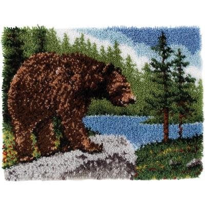 Classics Latch Hook Kit 20''X30'' Grizzly Bear