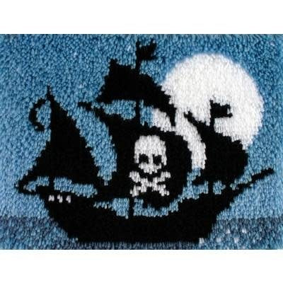 Wonderart Latch Hook Kit 15''X20'' Pirate Ship