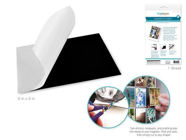 Magnetic Sheet: 6''x9'' Self-Adhesive Photo Magnet Sheet