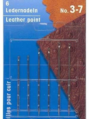 Leather needles with triangular point