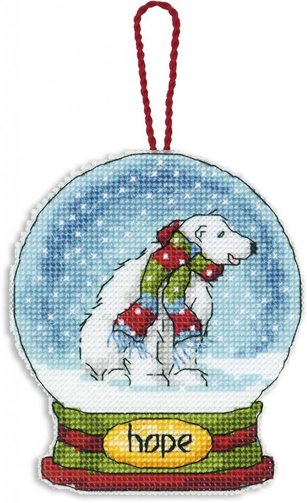 Hope Snow Globe Ornament - Dimensions Counted Cross Stitch
