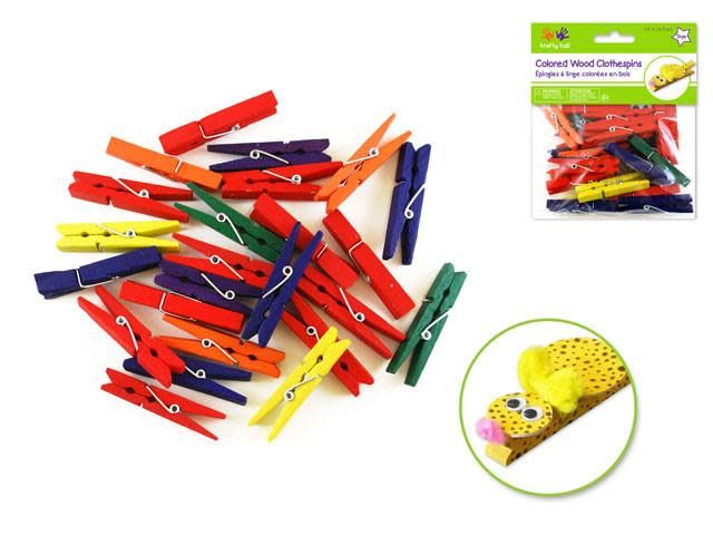 Craftwood: 1 7/8'' Clothespins Colored 24/pk