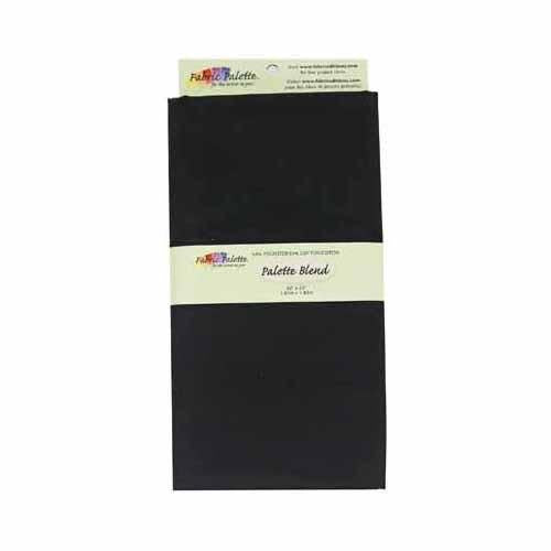 Poly-Cotton Fabric - Black - 1.8 x 1m (2yds x 42'')