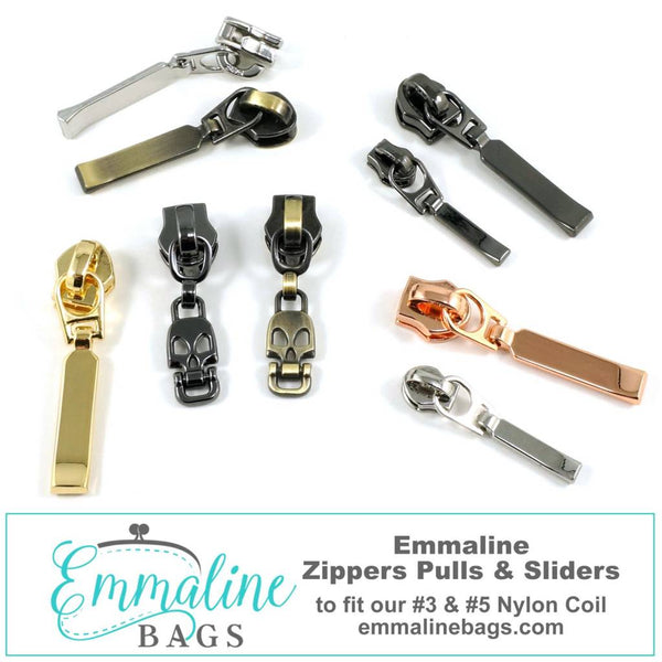 #3 & #5 Emmaline Zipper Pulls (10 pack)