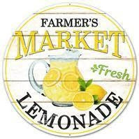 12''DIA Farmer's Market Fresh Lemonade