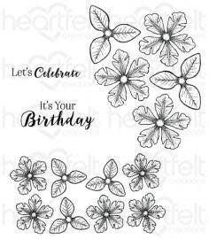 Cling Stamp Set, Small Classic Petunia