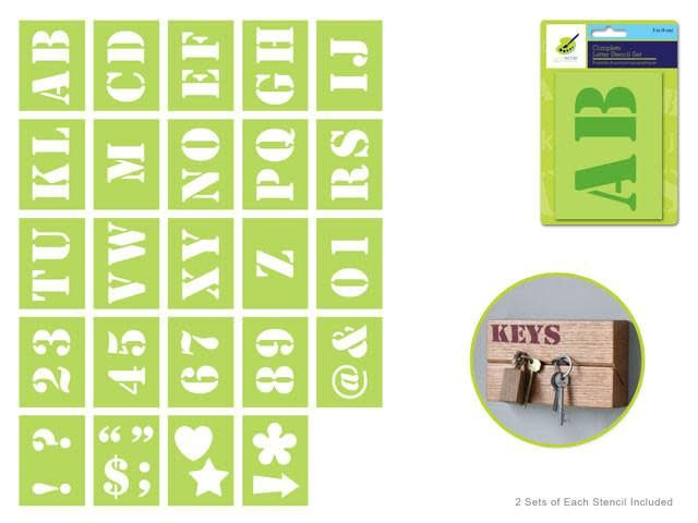Color Factory: Complete Letter Stencil Sets - C) 2''