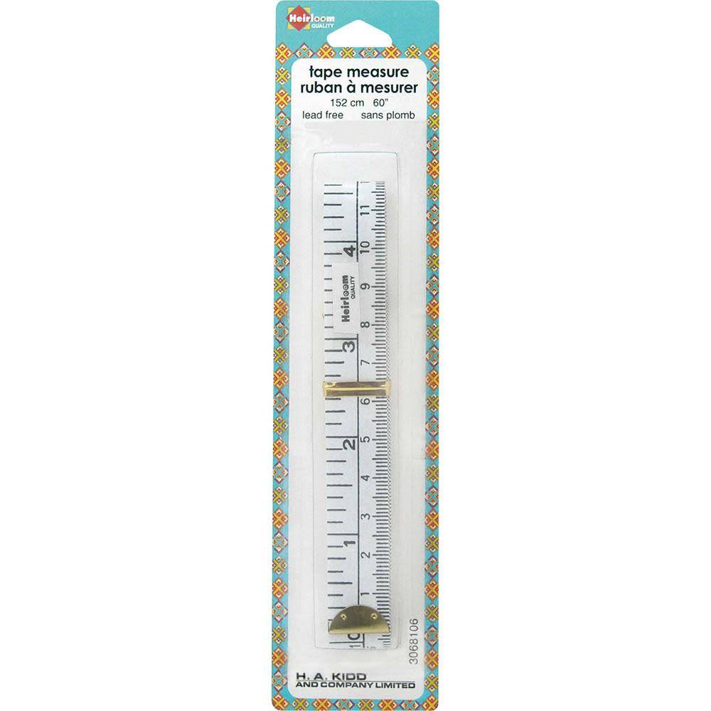HEIRLOOM Lead Free Tape Measure - 150cm (60'')