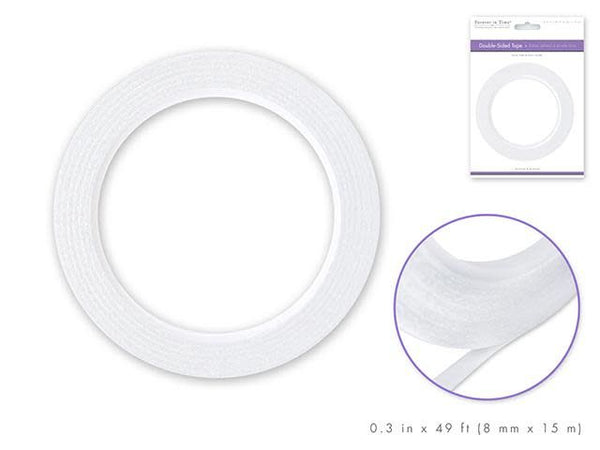 Paper Craft Tape: 8mm Double-Side Adhesive x15m Acidfree