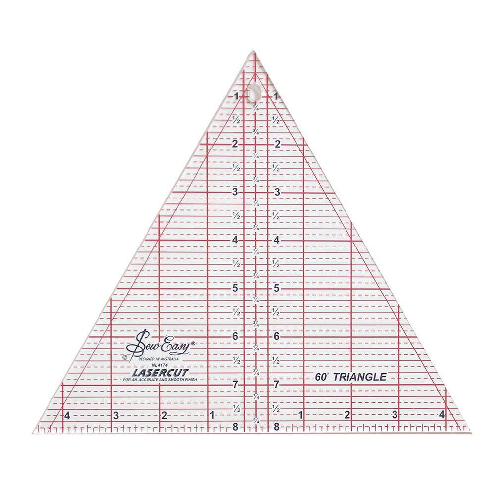 SEW EASY Triangle Ruler 60 - 8'' x 91/4'' (20.3 x 23.5cm)