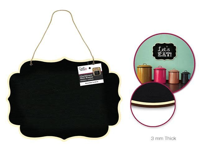 Craft Decor: Chalkboard Wall Plaque w/Jute Cord Hanger - C)  acket Border