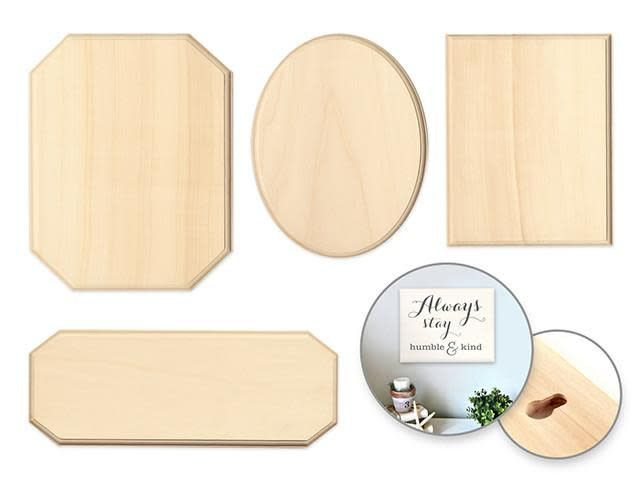 Wood Decor: Standard Plaques Rect/Oval/Cut-Away/Sign (sold individually)
