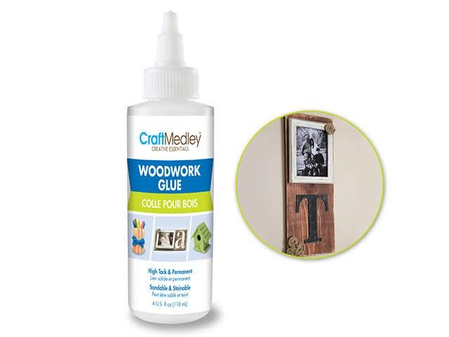 Craft Medley Glue: 4oz Woodwork Glue High Tack Sandable/Stainable